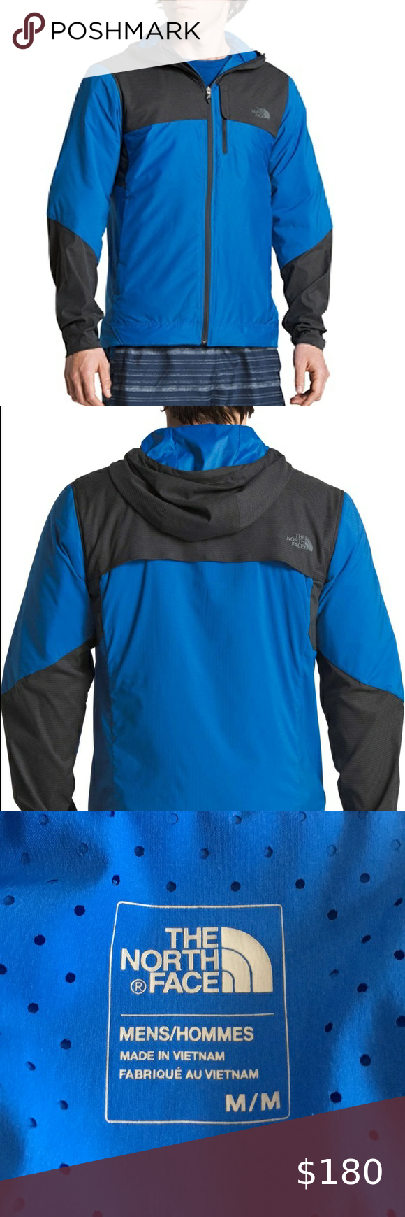 North Face Mens New Blue Jacket With Hood Medium North Face Jacket Mens North Face Thermoball Jacket North Face Mens [ 1740 x 580 Pixel ]