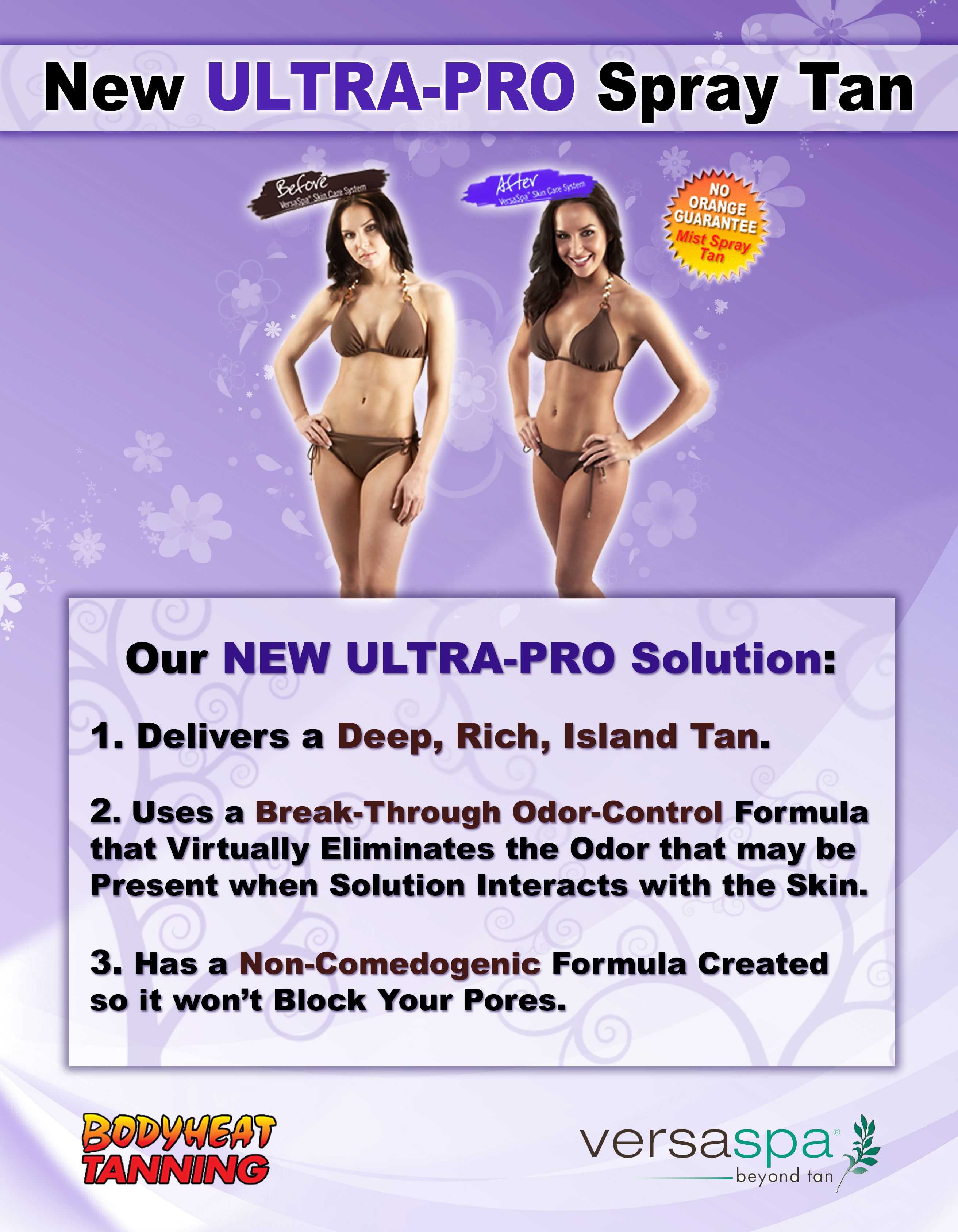 Bodyheat Tanning Now Offers An Ultra Pro Spray Tan Solution From