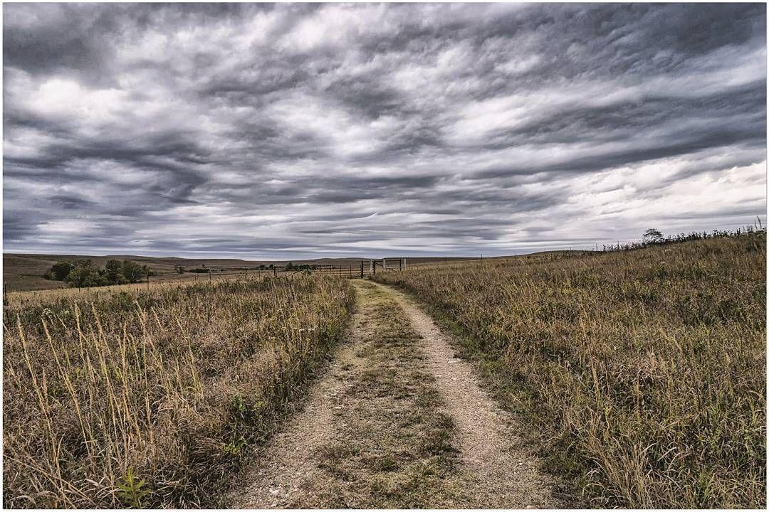 rutted road through tallgrass prairie national preserve chase