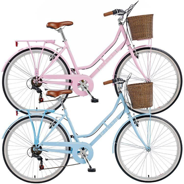 Viking Belgravia Ladies Traditional Commuter Heritage Bike With Front Basket Womens Bike With Basket Bike Womens Bike
