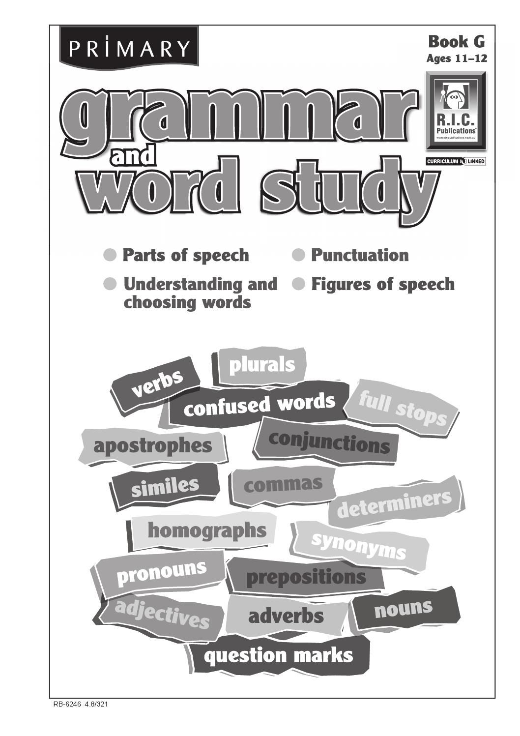 Primary Grammar And Word Study Book G