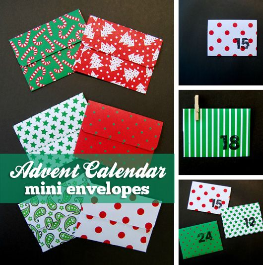 At home with Ali Christmas Advent Calendar mini envelopes My Kid
