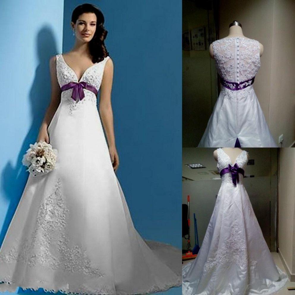 Silver White Wedding Sophisticated Bride Wedding Dresses Plus
