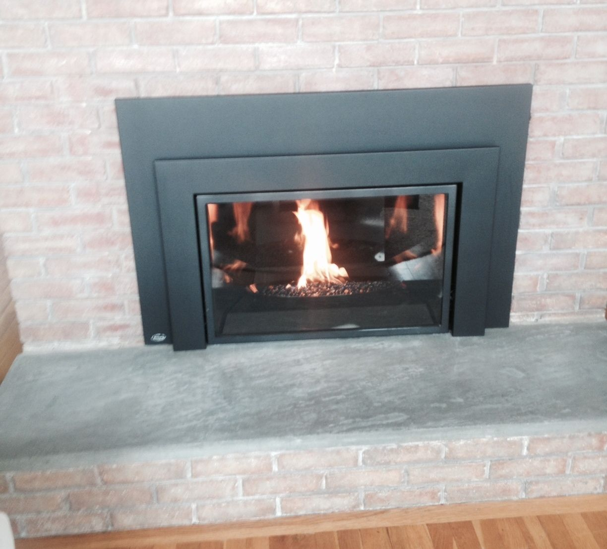 Enviro Gas Insert With Bowl And Black Glass Beads Hearth Black