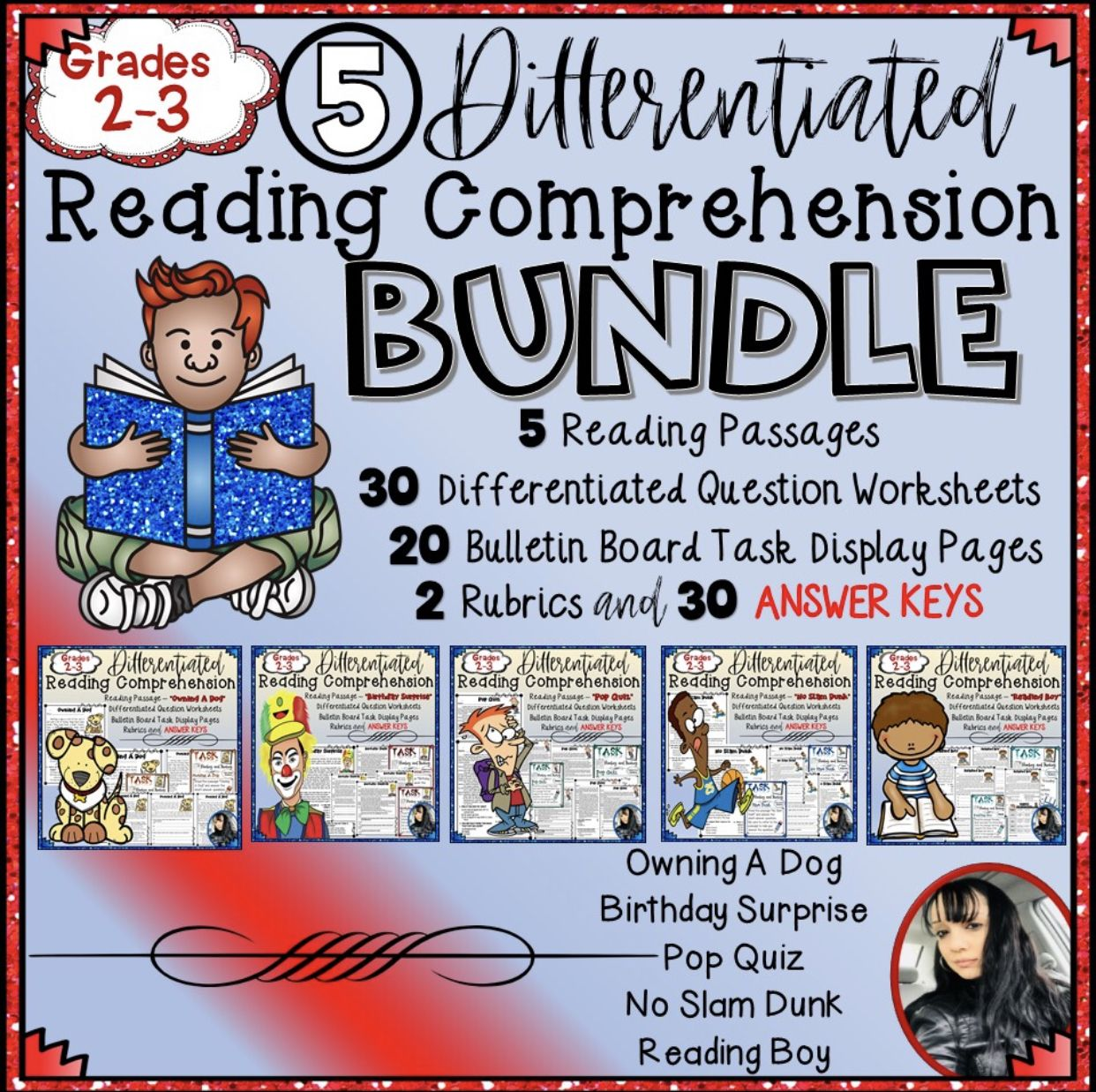 Differentiated Reading Comprehension Bundle Grades 2 3