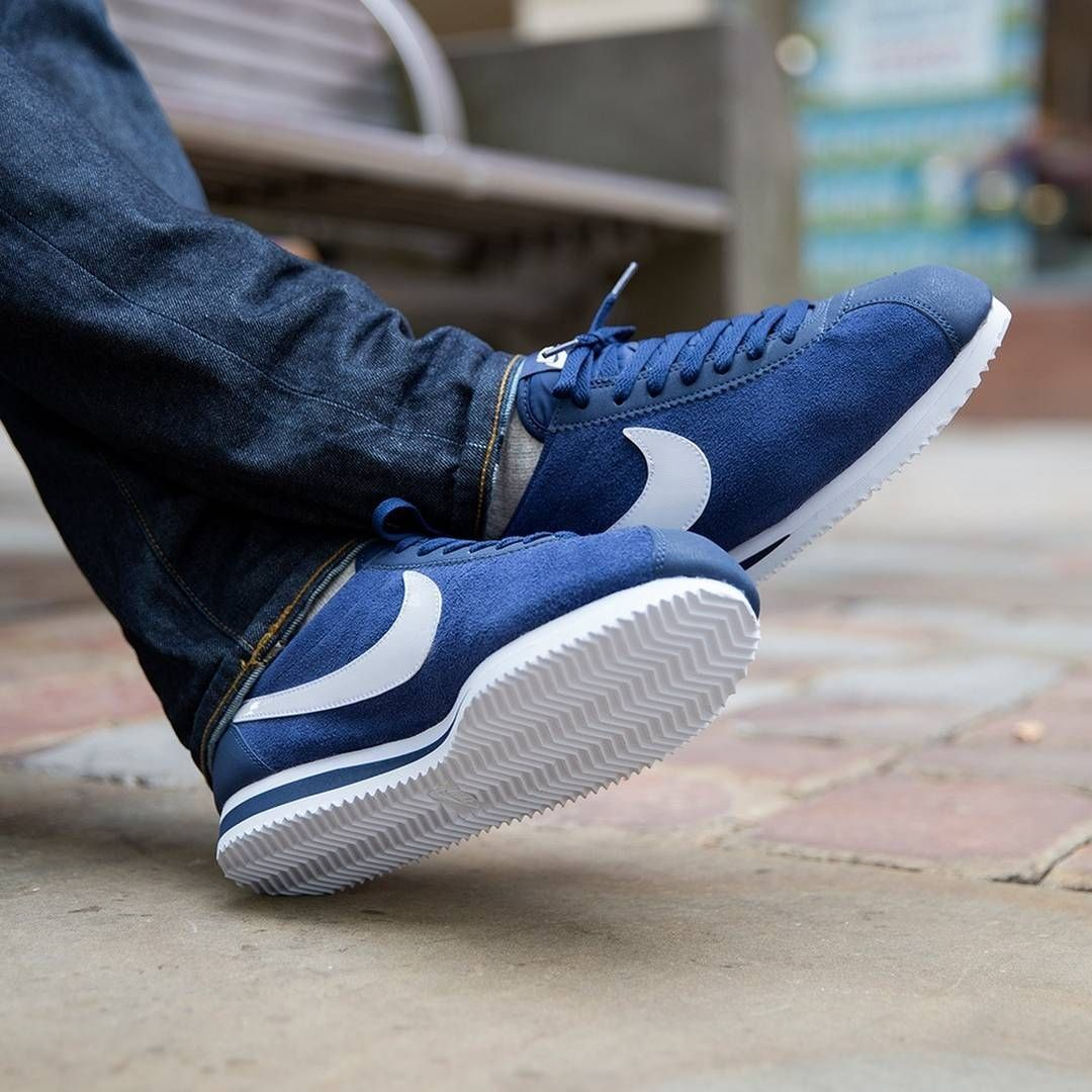 cheap for discount 6463b 5827e Nike Cortez Suede Blue