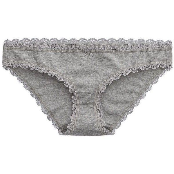3e22e3f94638 Aerie Bikini ($7.50) ❤ liked on Polyvore featuring intimates, panties,  underwear, lingerie, dark heather grey, underwear bikini, bikini panty,  lacy panties ...