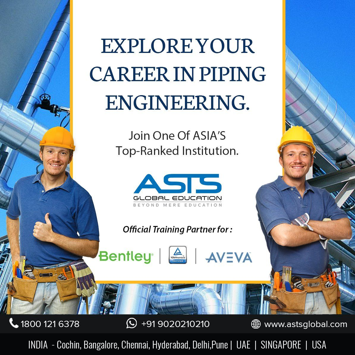 Get ahead and explore your career in Piping Engineering