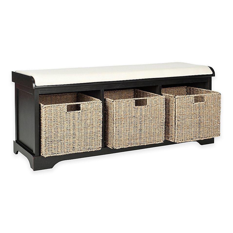 Safavieh Lonan Storage Bench In Black White Storage Bench Find