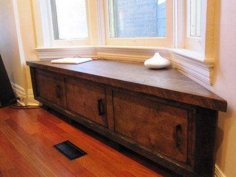 Custom Made to Fit - Bay Window Seat Storage Bench. $1,600.00, via Etsy.