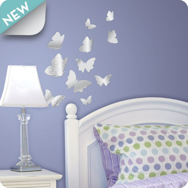 Beautiful Wall Decals and Stickers for Teens with Butterfly Motif by Lot 26 · Bedroom Wall DesignsPurple BedroomsTeen ... & Beautiful Wall Decals and Stickers for Teens with Butterfly Motif by ...