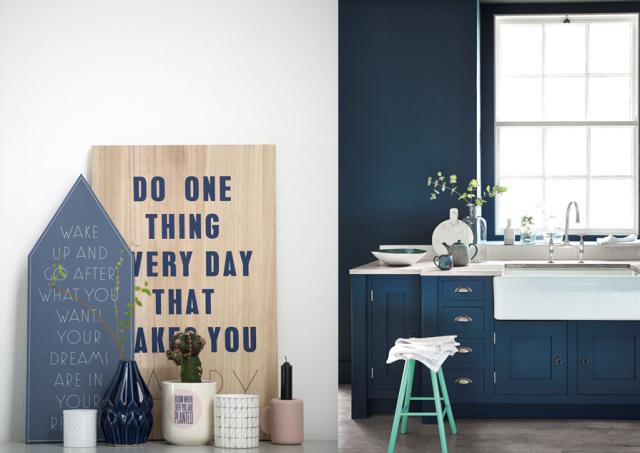 15 inspirations d co en bleu marine blue love d co bleue deco et bleu - Cuisine bleu marine ...