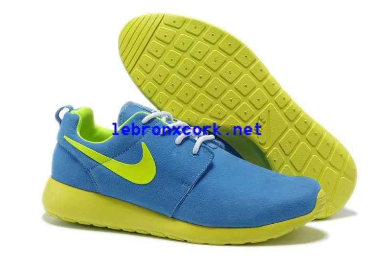 Nike Roshe Runs Blue & Neon Green