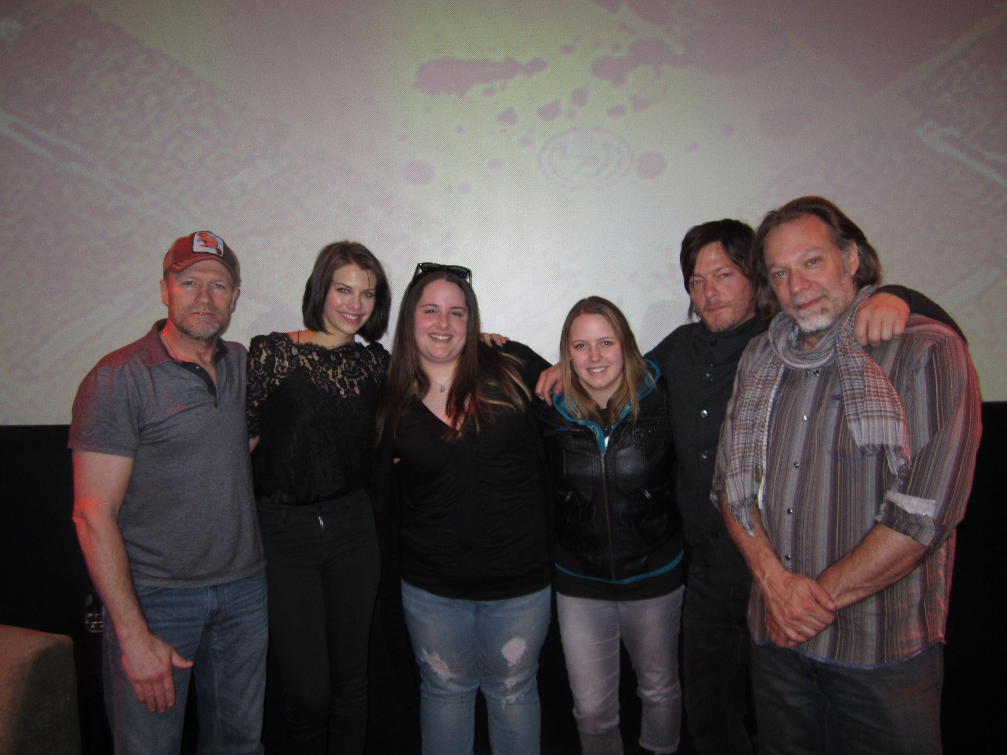 Michael Rooker, Lauren Cohan, Erica (my BFF), me, Norman