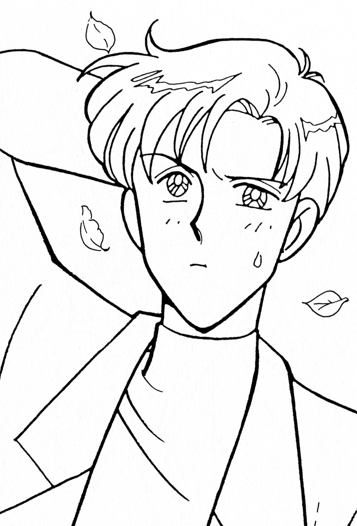 Chiba Mamoru Coloring Page // #sailormoon | Sailor Moon | Coloring ...