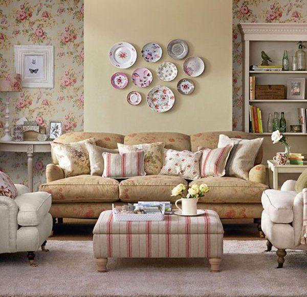 decoraconmaria ALGUNAS IDEAS PARA DECORAR PAREDES salas - ideas para decorar la sala