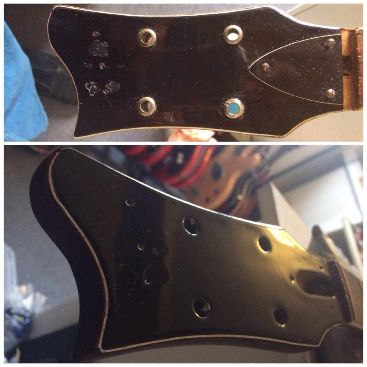 Refinishing A Hofner 1966 500 1 Headstock Bass Guitar Bass Guitar