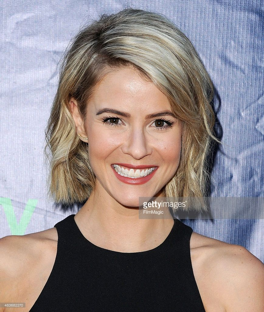 Actress Linsey Godfrey arrives at CBS, CW And Showtime 2015 Summer TCA Party at Pacific Design Center on August 10, 2015 in West Hollywood, California.