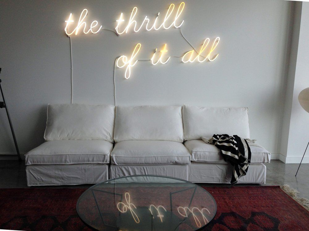 Neon Wall Art best buy neon signs - the thrill of it all, neon wall art