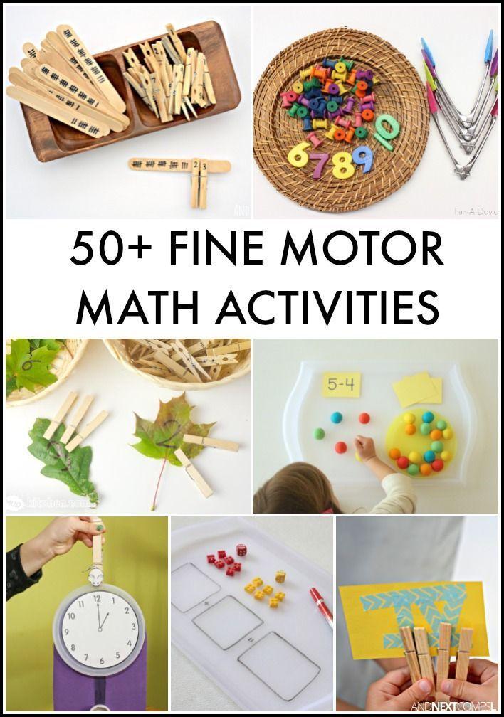 50+ Fine Motor Math Activities for Kids {Fine Motor Fridays}   Math ...