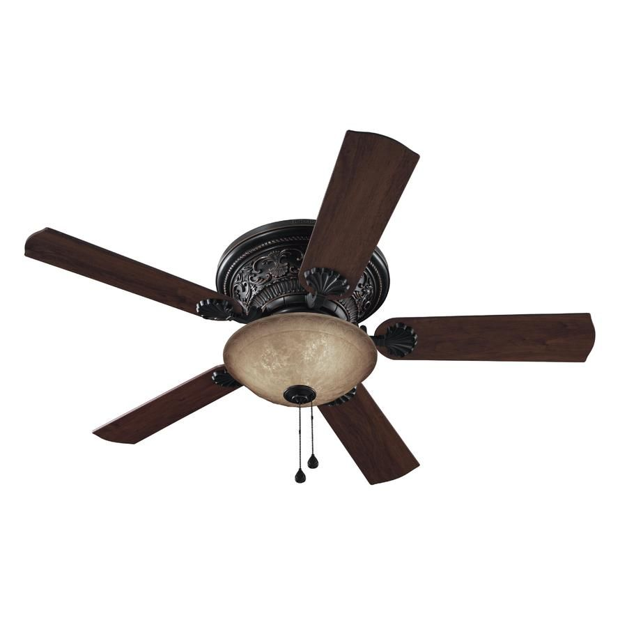 Shop Harbor Breeze 52 In Specialty Bronze Ceiling Fan With Light Kit At Lowes Com Bronze Ceiling Fan Ceiling Fan With Light Ceiling Fan