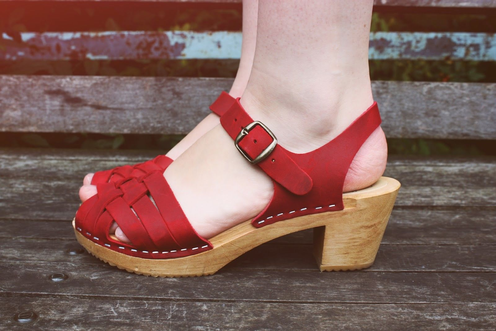 Moheda Betty Sandals Red
