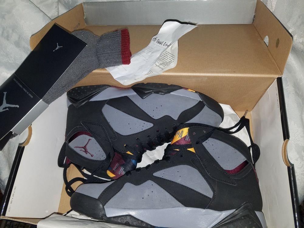 online retailer e2608 72cfc Air Jordan 7 Bordeaux 2011 304775 003 Black LT Graphite-Bordeaux W  Socks!!  VNDS