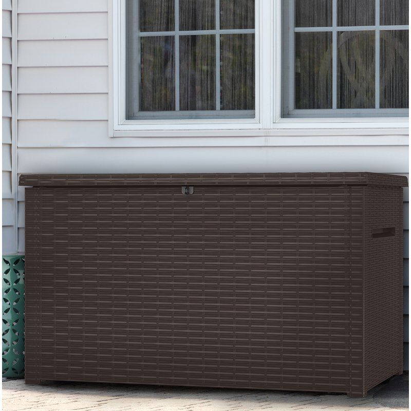 Java 230 Gallon Resin Deck Box Resin Deck Box Deck Box Plastic Storage Sheds