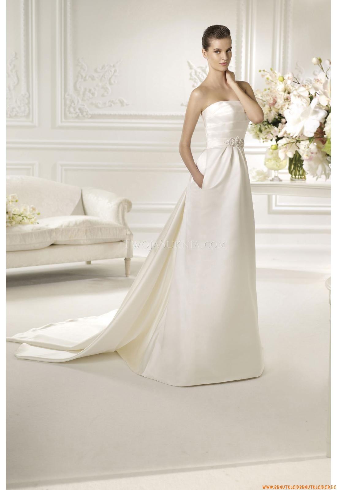 Empire Schlicht Elegante Brautkleider 2014 aus Taft | brautkleider ...