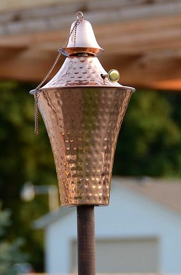 Kona Deluxe Tiki Torch Hammered Copper