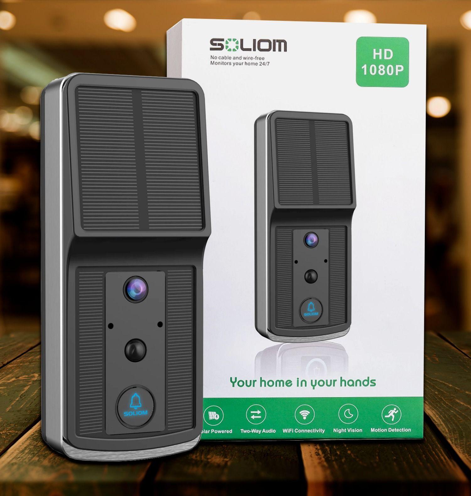 World S First Solar Powered Video Doorbell