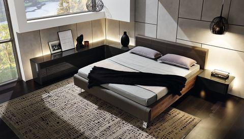hülsta Gentis Schlafzimmer mit Beimöbeln in Lack-Hochglanz ...