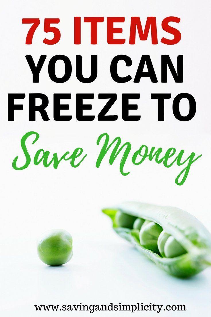 75 Artikel, die Sie einfrieren können, um Geld zu sparen   – Money saving meals