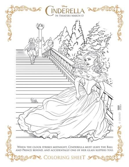 Cinderella Movie Coloring Sheets Several Styles Print Them Out And Let Your Child Color