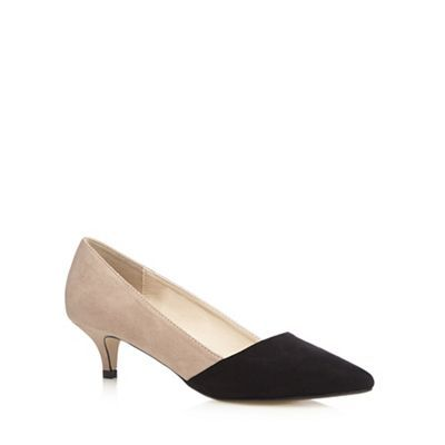 4e2e1466347 Red Herring Black suedette colour block mid court shoes- at ...