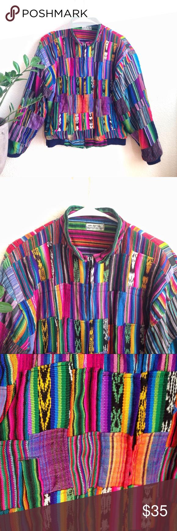 Vintage 90s Retro Guatemala Hippie Style Jacket