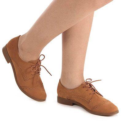 2167be1a49 Sapato Oxford Feminino Bottero Totalmente Demais - Caramelo - Passarela.com