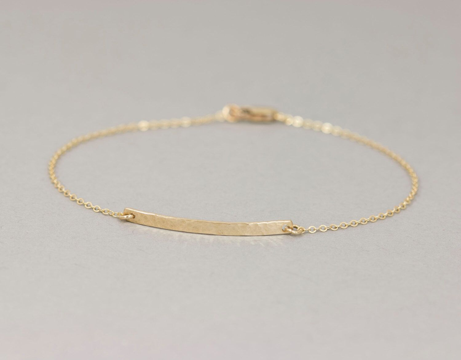 Ultra Minimal Delicate Bar Bracelet Dainty Blank Or Personalized