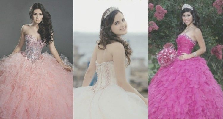 ¡Es hora de examinar el escote de tu vestido y encontrar el peinado de Quince que te haga lucir preciosa!
