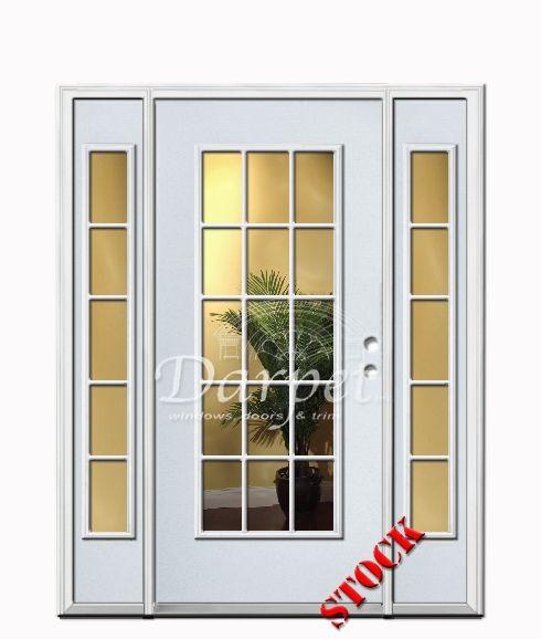 15 Lite Clear Glass Steel Exterior Door With Sidelites 6 8 Darpet