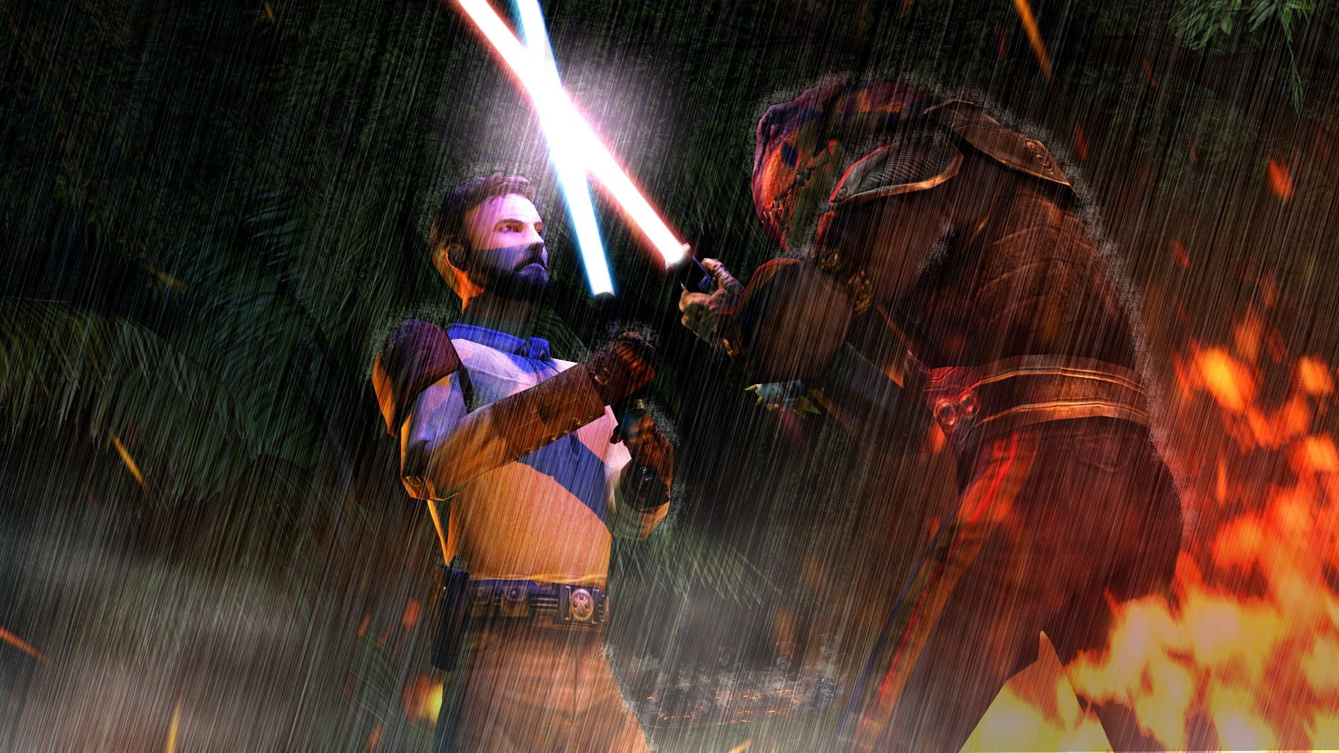 Kyle Katarn Vs Desaan Jedi Outcast Video Game Jedi Outcast Star Wars Facts Kyle Katarn