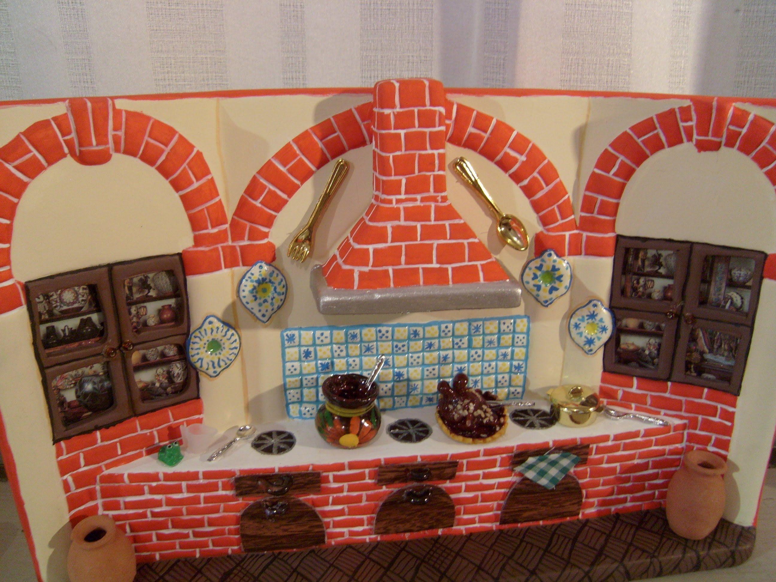 Diy Cómo Pintar Una Cocina De Cerámica Con Adornos Tipo Talavera 9 De 9 Casitas De Ceramica Decorar Tejas Manualidades