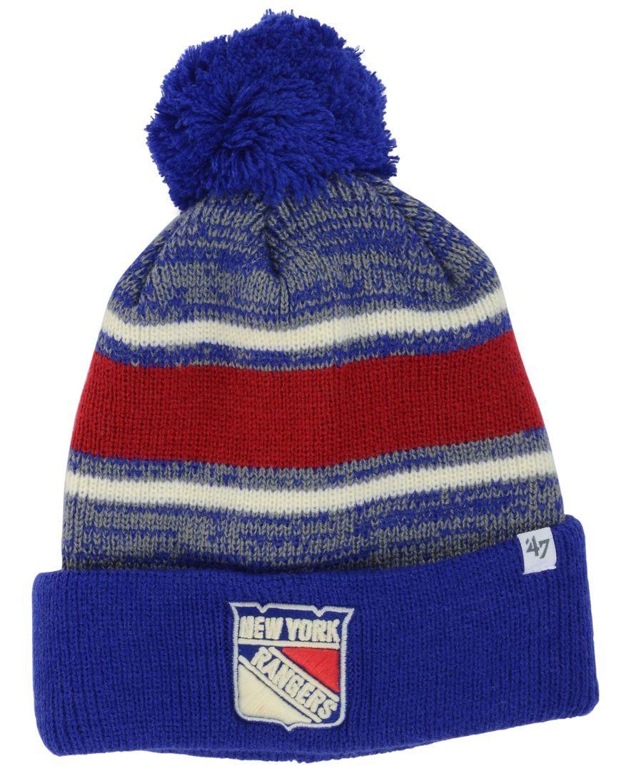 8f374f99f5c  47 Brand New York Rangers Fairfax Pom Knit Hat.