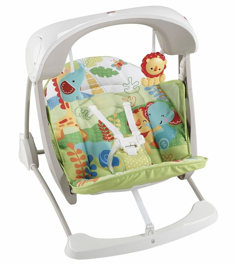 Fisher Price Rainforest Friends Deluxe Take Along Swing