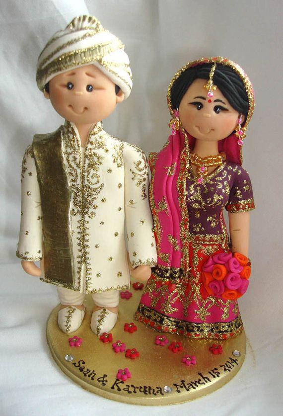 Items Similar To Personalised Asian Indian Sikh Hindu Pakistani Muslim Bride Groom Ethnic Wedding Cake Topper On Etsy