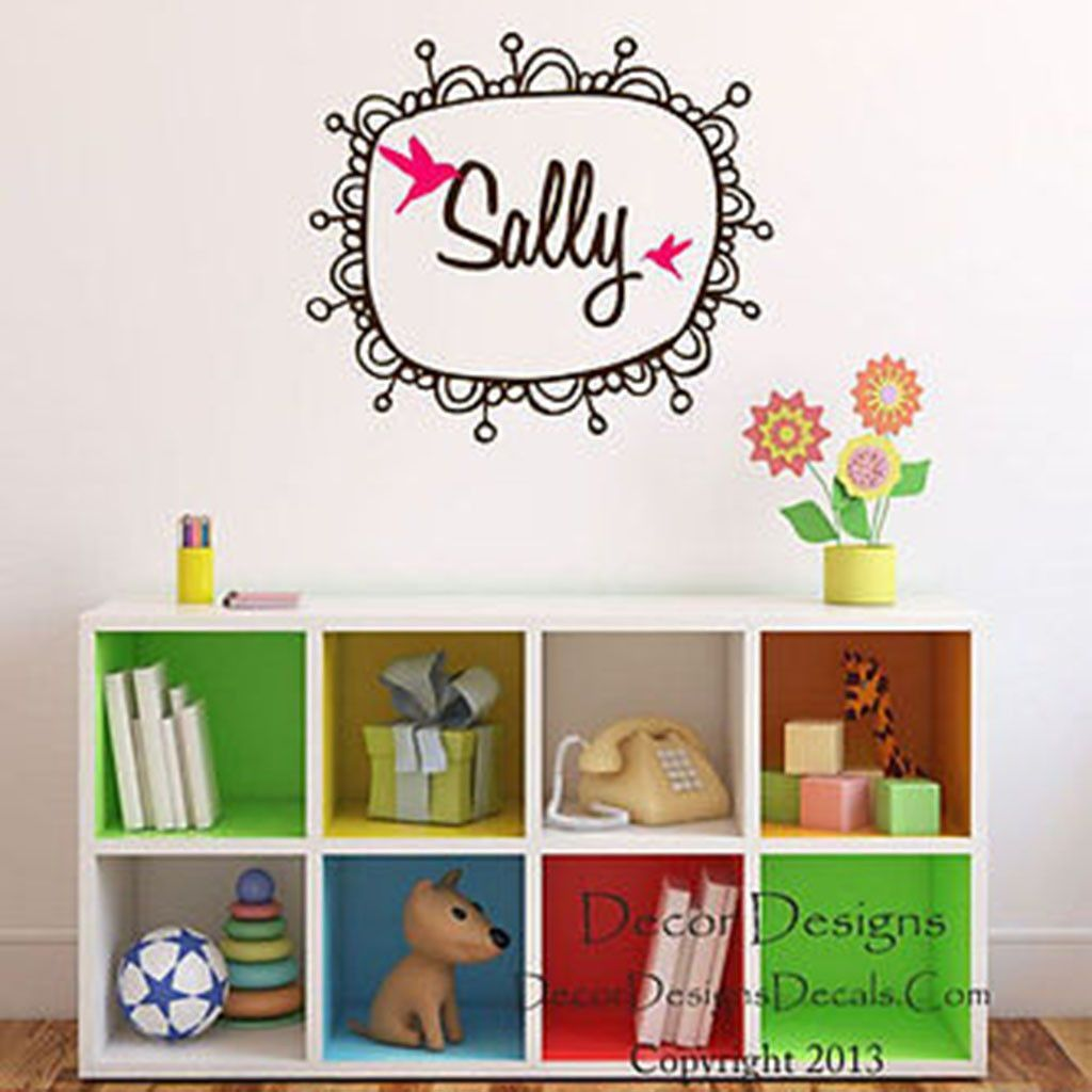 Monogram Frame Custom Name Vinyl Wall Decal Stickers | Wall decal ...