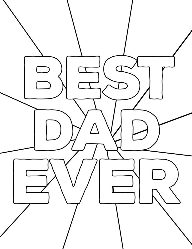 Happy Father's Day Coloring Pages Free Printables