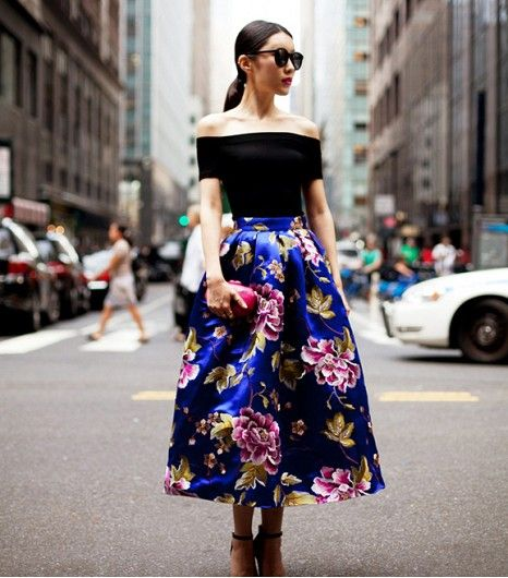 Floral midi skirt | Evening. | Pinterest | Midi skirts, Floral and ...