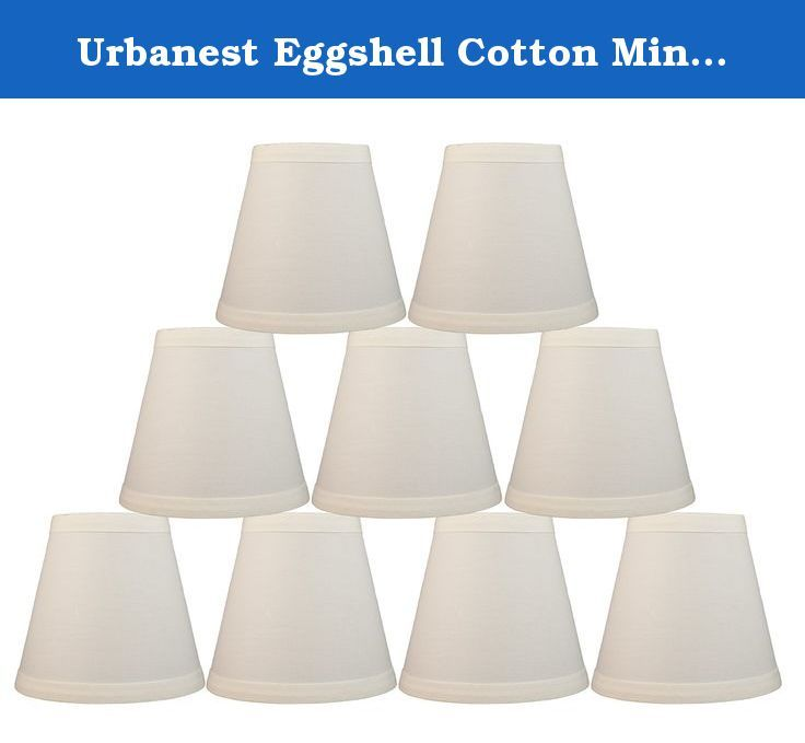Lampshade Shapes urbanest eggshell cotton mini chandelier lamp shade, 5-inch