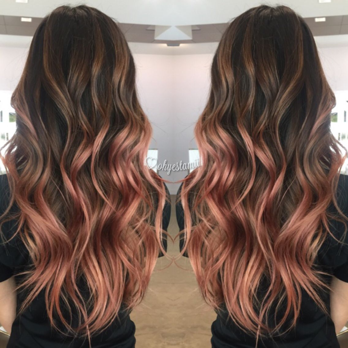 my rose gold balayage More